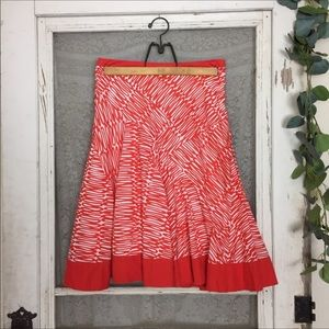 4/$25 Anthropologie Fei Flaired Box Pleat Skirt L5